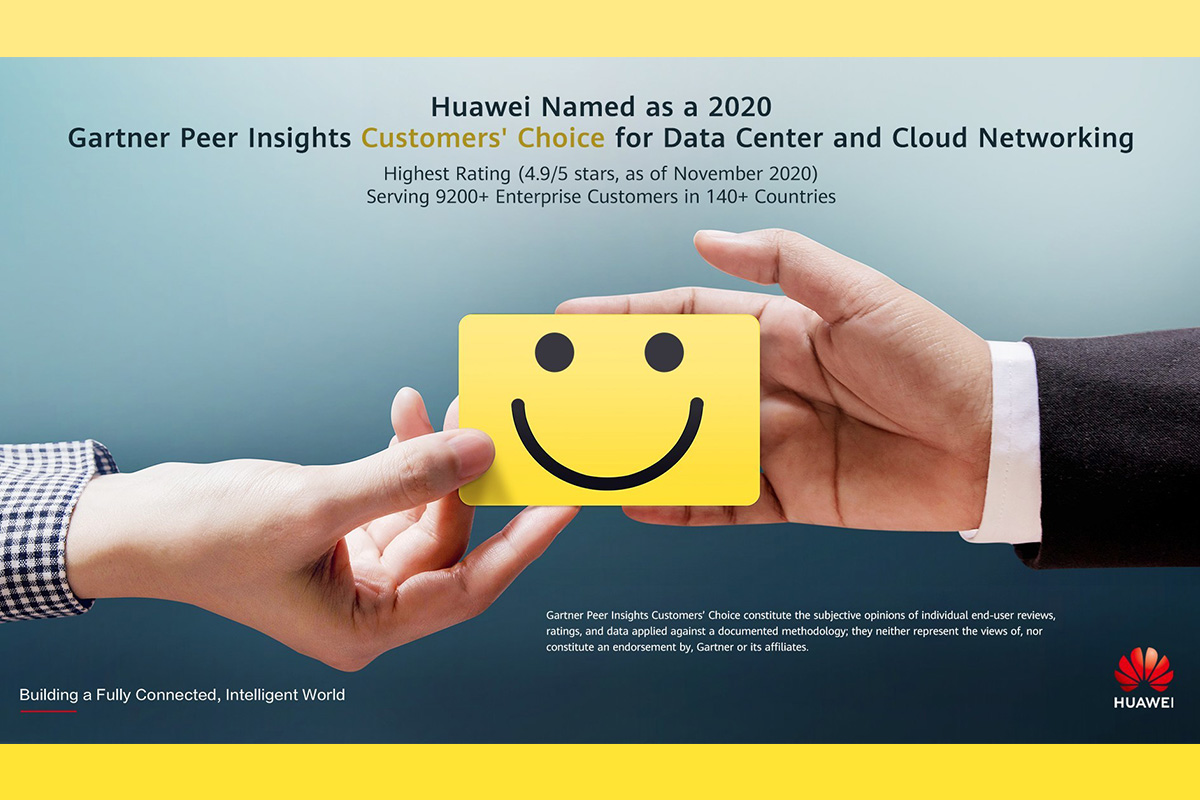 huawei-recognized-as-a-2020-gartner-peer-insights-customers'-choice-for-data-center-and-cloud-networking-with-the-highest-rating