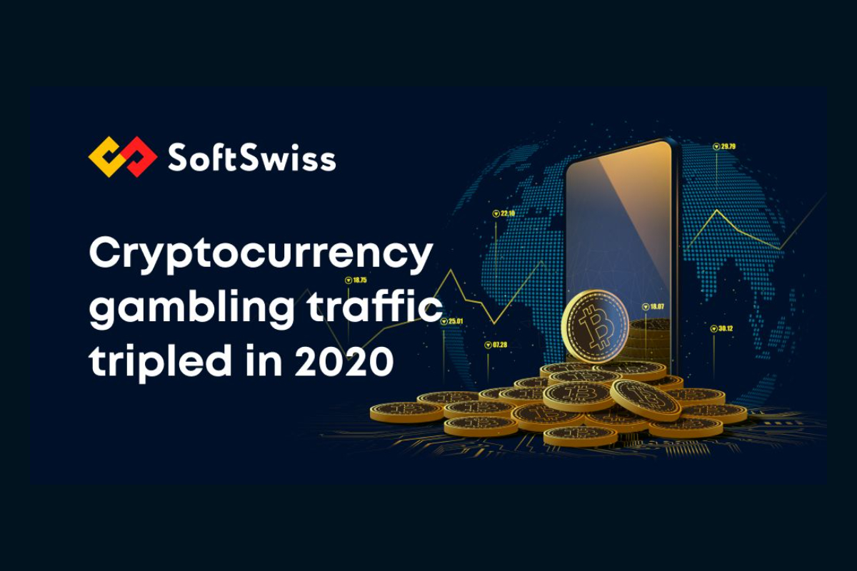 cryptocurrency-gambling-traffic-saw-threefold-increase-in-2020,-softswiss-shares