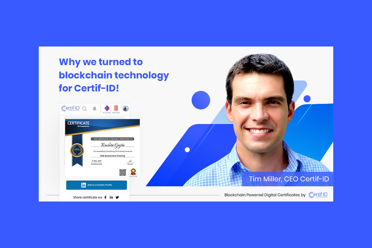 how-will-blockchain-affect-the-future-of-education-and-learning?-tim-miller,-ceo-certif-id-shares-his-views