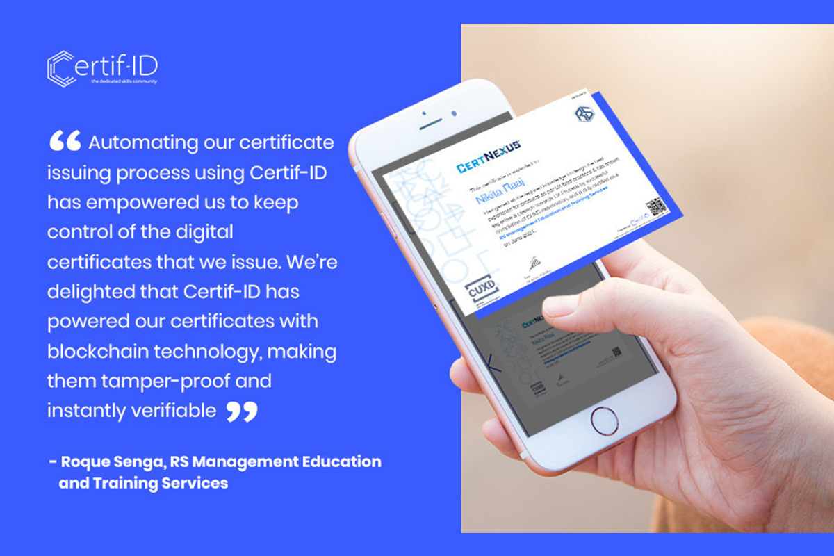 rs-management-education-and-training-services-issues-digital-certificates-to-graduates-via-certif-id